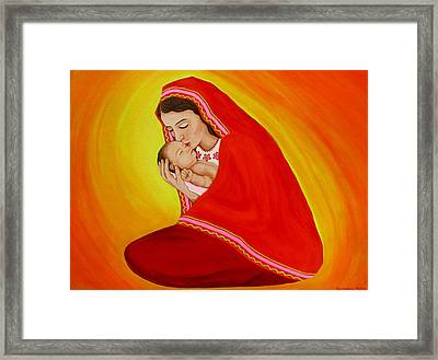 Madrecita Framed Print by Evangelina Portillo