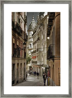 Madrid Streets Framed Print by Joan Carroll