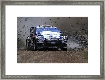 Mads Ostberg Fia World Rally Championship Australia Framed Print
