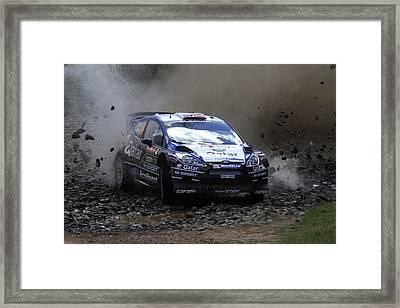 Mads Ostberg Fia World Rally Champonship Australia Framed Print