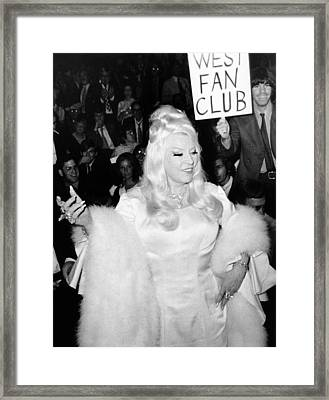 Mae West At Premiere Framed Print