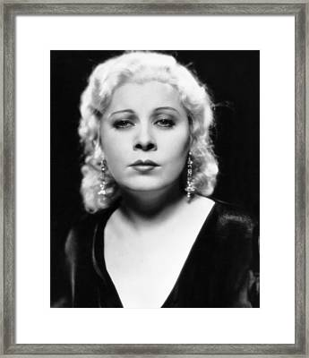 Mae West, Ca. 1932 Framed Print by Everett