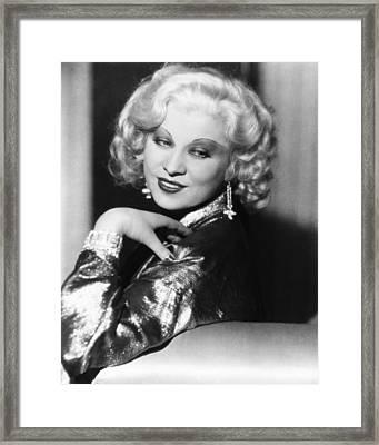 Mae West, Ca. 1935 Framed Print