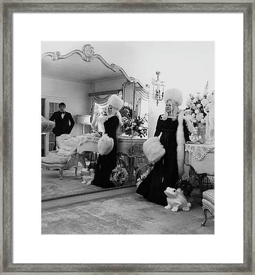 Mae West Inside Her Home Framed Print by Cecil Beaton