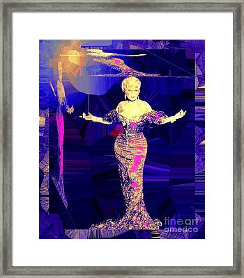 Mae West. Ladies Embrace Your Curves Framed Print