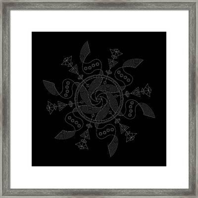 Maelstrom Inverse Framed Print by DB Artist