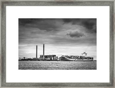 Framed Print featuring the photograph Maersk Laberinto. by Gary Gillette
