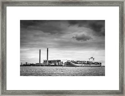 Maersk Laberinto. Framed Print