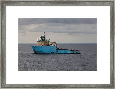 Framed Print featuring the photograph Maersk Transporter by Gregory Daley  PPSA