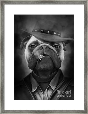 Mafia Dog Framed Print by Ivan  Pawluk