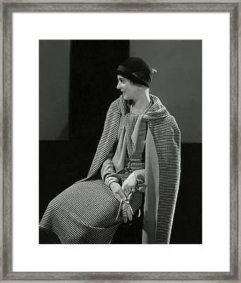 Magaret Shea Wearing A Chanel Suit Framed Print