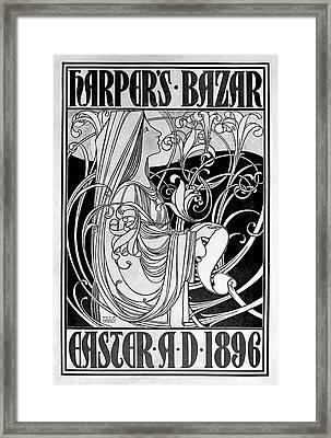 Magazine Cover, 1896 Framed Print by Granger
