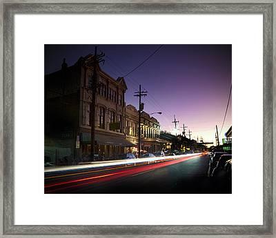 Magazine Street Sunset In Uptown Nola Framed Print by Ray Devlin