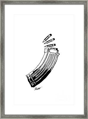Magazine Framed Print by The Art Of Rido