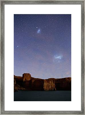Magellanic Clouds Over Cliffs Framed Print by Luis Argerich