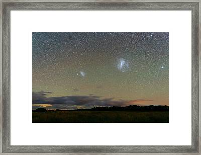 Magellanic Clouds Over The Pampas Framed Print by Luis Argerich