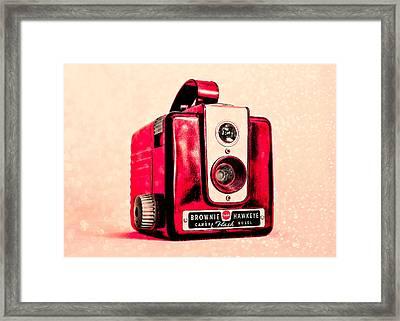 Magenta Brownie Hawkeye Framed Print