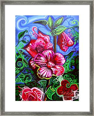Magenta Fleur Symphonic Zoo I Framed Print by Genevieve Esson