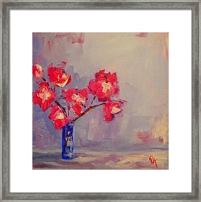 Magenta Flower Arrangement Framed Print by Patricia Awapara