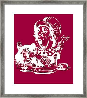 Magenta Mad Hatter Framed Print