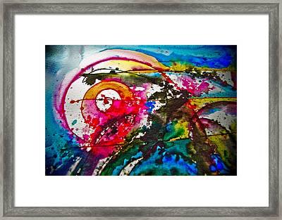 Magenta Spiral Framed Print by Adria Trail