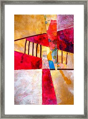 Magenta Splash Framed Print