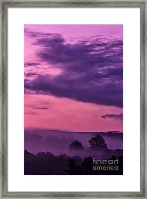 Magenta Sunrise Glow Framed Print by Thomas R Fletcher
