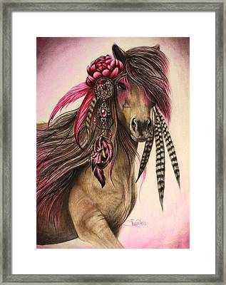 Magenta Warrior  Framed Print by Sheena Pike