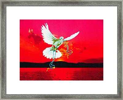 Framed Print featuring the digital art Magestic Sun by Mary Anne Ritchie