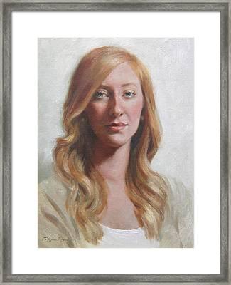 Maggie Framed Print by Anna Rose Bain