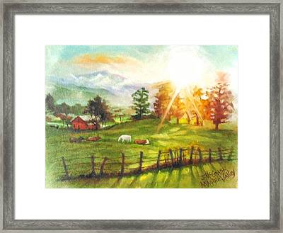 Maggie Valley Sunrise Framed Print by Janet McGrath
