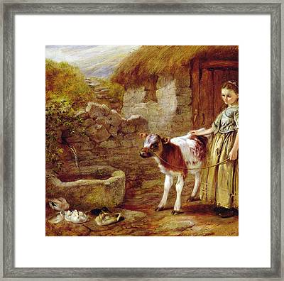 Maggie's Charge Framed Print by John H Dell