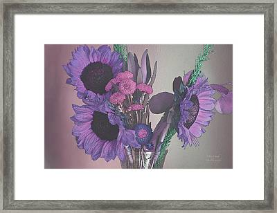 Maggies Flowers In Purple Framed Print by Steve and Sharon Smith