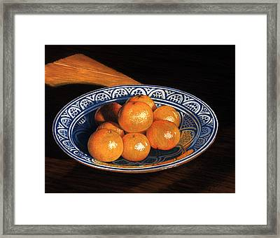 Maggie's Oranges Framed Print by Norm Holmberg