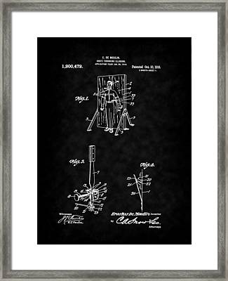 Magic - 1916 Knife Trowing Illusion Patent Framed Print by Barry Jones