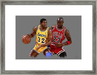 Magic And Michael Framed Print
