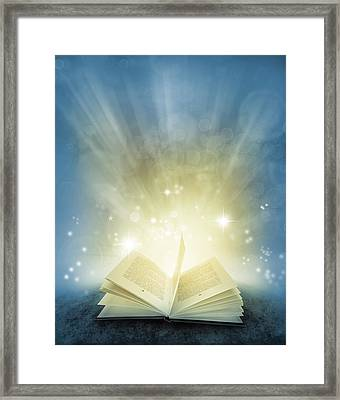 Magic Book Framed Print by Les Cunliffe