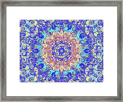 Magic Carpet Ride Blue Framed Print by Annette Allman