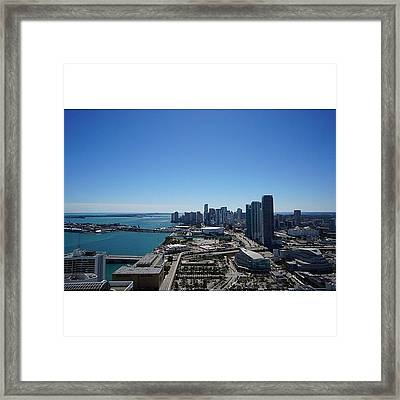 Magic City Skyline Framed Print