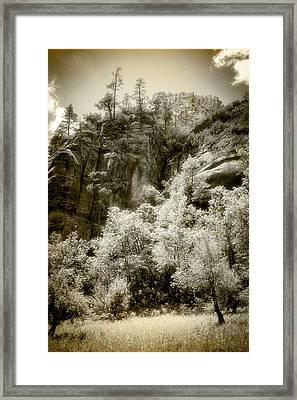 Magic Cliffs Outside Sedona Framed Print