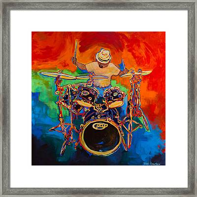 Magic Cymbals Framed Print by Terri Haugen
