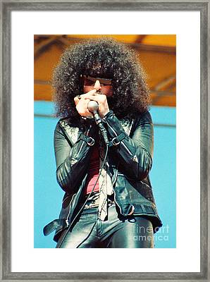 Magic Dick  From J Geils Band - Day On The Green July 4th 1979 Framed Print by Daniel Larsen