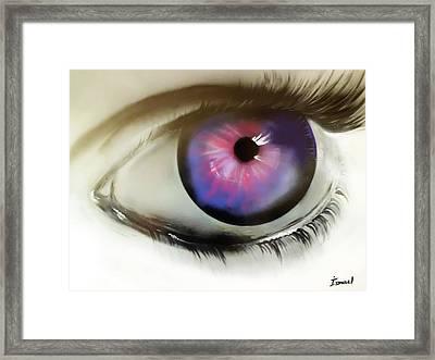 Magic Eye Framed Print by Ismael Paint