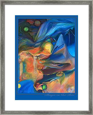 Magic In The Air - With Border And Title Framed Print by Brooks Garten Hauschild