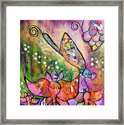 Magic In The Garden Framed Print