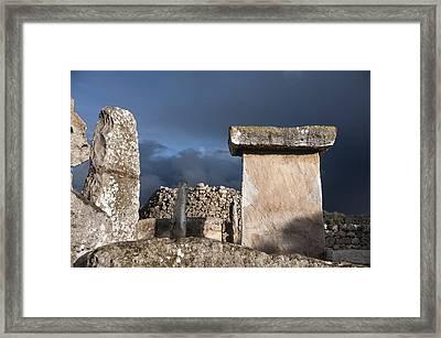 Bronze Edge In Minorca Called Talaiotic Age Unique At World - Magic Island 1 Framed Print
