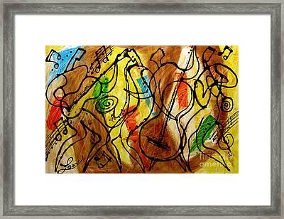 Magic Jazz 2 Framed Print by Leon Zernitsky