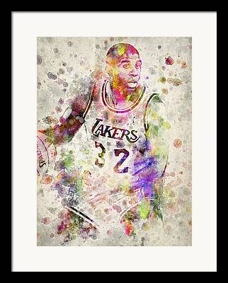 Magic Johnson Framed Prints