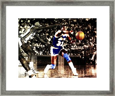 Magic Johnson And The Worm Framed Print by Brian Reaves