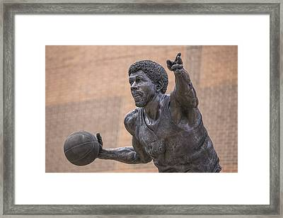 Magic Johnson Statue  Framed Print